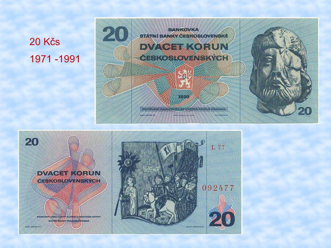 20 Kčs 1971 -1991