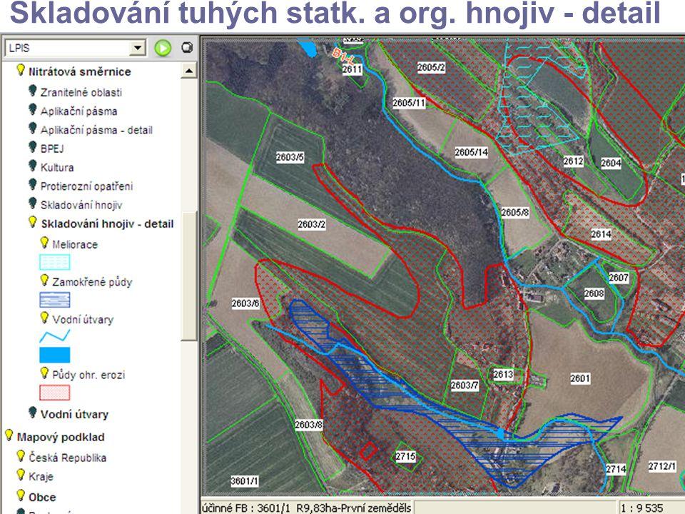 Skladování tuhých statk. a org. hnojiv - detail