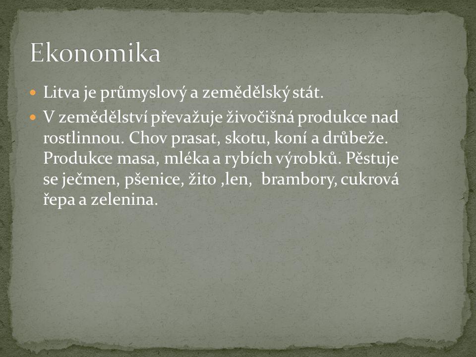 Litva je průmyslový a zemědělský stát. V zemědělství převažuje živočišná produkce nad rostlinnou.