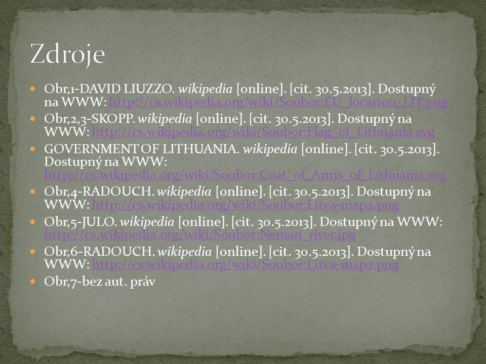 Obr,1-DAVID LIUZZO. wikipedia [online]. [cit. 30.5.2013]. Dostupný na WWW: http://cs.wikipedia.org/wiki/Soubor:EU_location_LIT.pnghttp://cs.wikipedia.