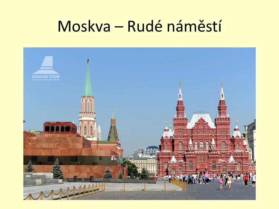 Moskva – Rudé náměstí