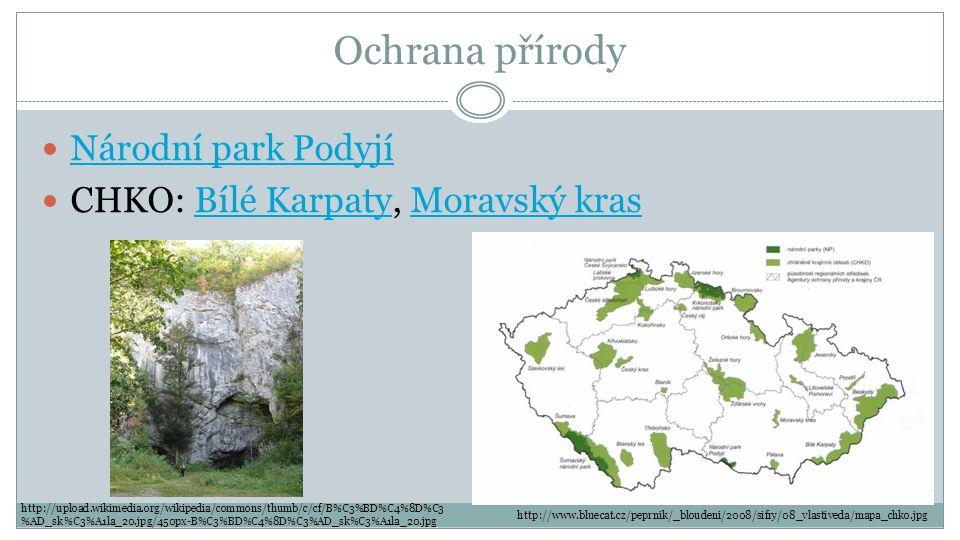 Ochrana přírody Národní park Podyjí CHKO: Bílé Karpaty, Moravský krasBílé KarpatyMoravský kras http://www.bluecat.cz/peprnik/_bloudeni/2008/sifry/08_v