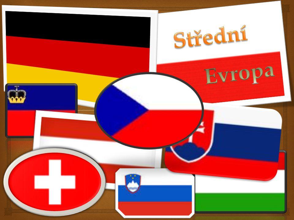 O leží mezi východní a západní Evropou O rozloha 1 038 960km 2 O patří sem: Poloha a rozloha Alpské zeměVisegrádská čtyřka NěmeckoPolsko RakouskoMaďarsko ŠvýcarskoSlovensko LichtenštejnskoČesko Slovinsko