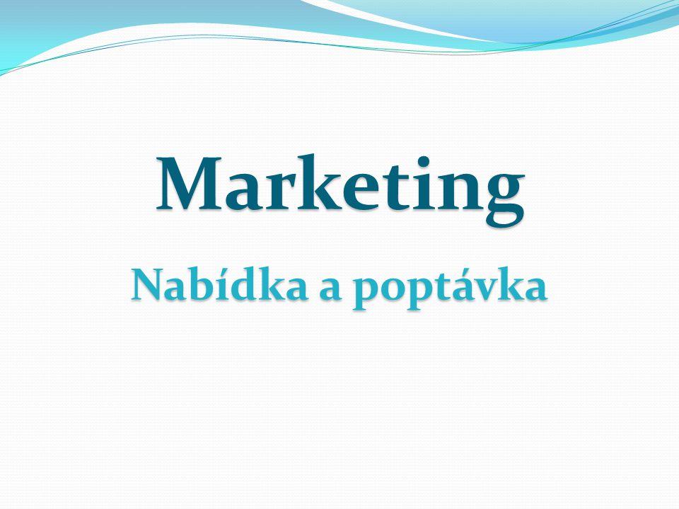 Marketing Nabídka a poptávka
