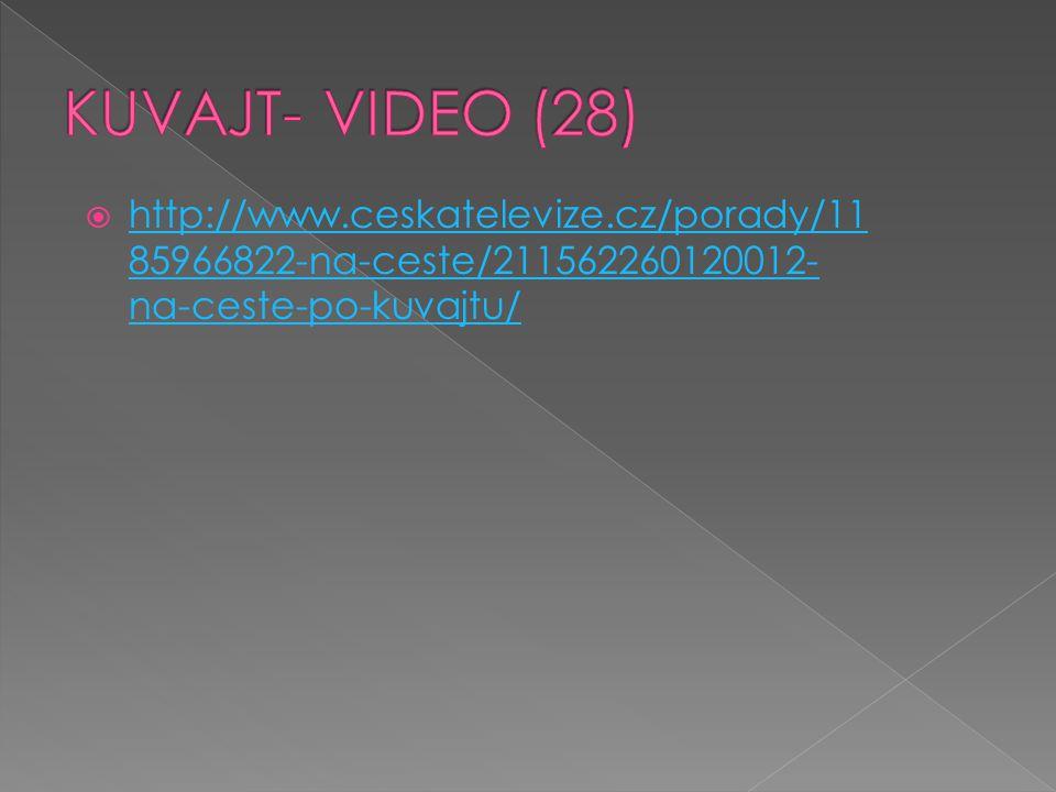 http://www.ceskatelevize.cz/porady/11 85966822-na-ceste/211562260120012- na-ceste-po-kuvajtu/ http://www.ceskatelevize.cz/porady/11 85966822-na-cest