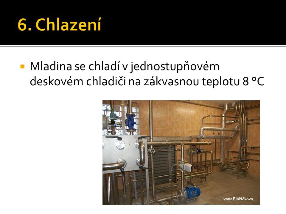  Mladina se chladí v jednostupňovém deskovém chladiči na zákvasnou teplotu 8 °C Ivana Blažíčková