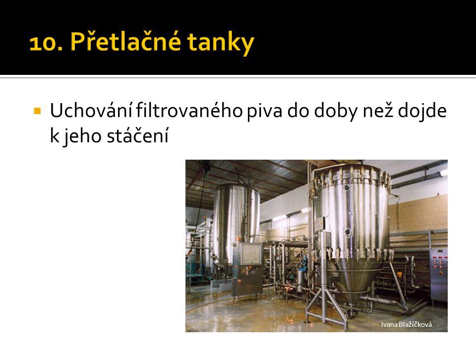  Uchování filtrovaného piva do doby než dojde k jeho stáčení Ivana Blažíčková