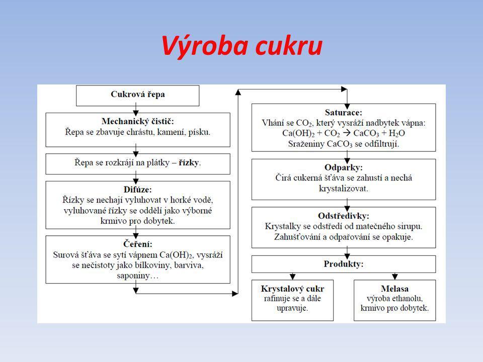 Maltóza = cukr sladový Krystalická látka Dobře rozpustná ve vodě Méně sladká Stejná energetická hodnota jako sacharóza Vzniká působením enzymu při klíčení ječmene v obilných klíčcích Je složena ze dvou glukózových jednotek