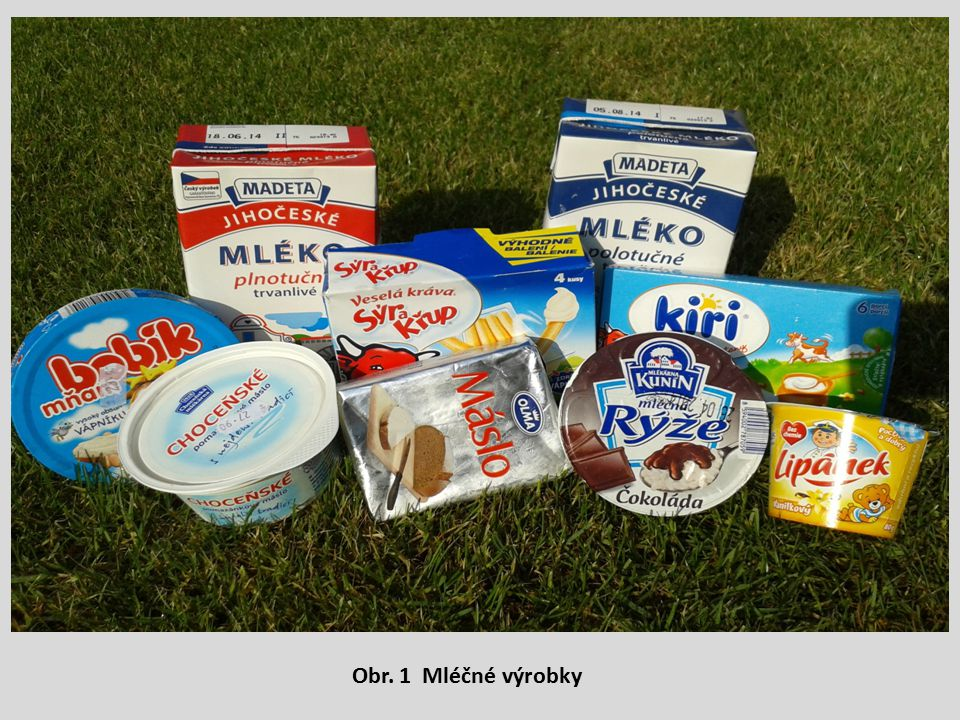 Obr. 1 Mléčné výrobky