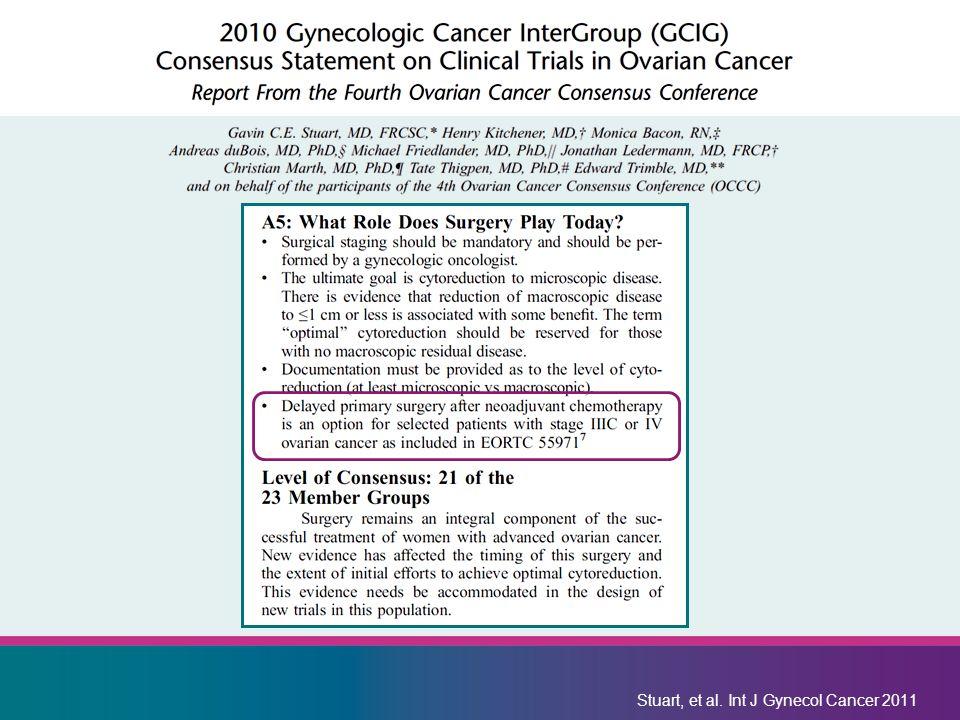 Stuart, et al. Int J Gynecol Cancer 2011