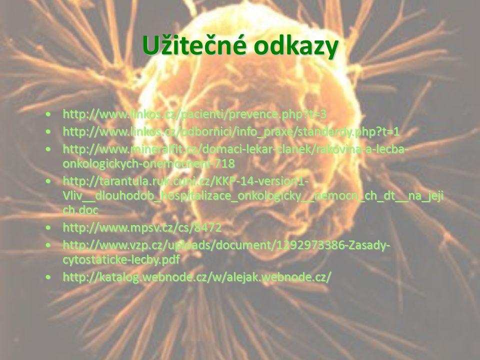 Užitečné odkazy http://www.linkos.cz/pacienti/prevence.php?t=3http://www.linkos.cz/pacienti/prevence.php?t=3 http://www.linkos.cz/odbornici/info_praxe