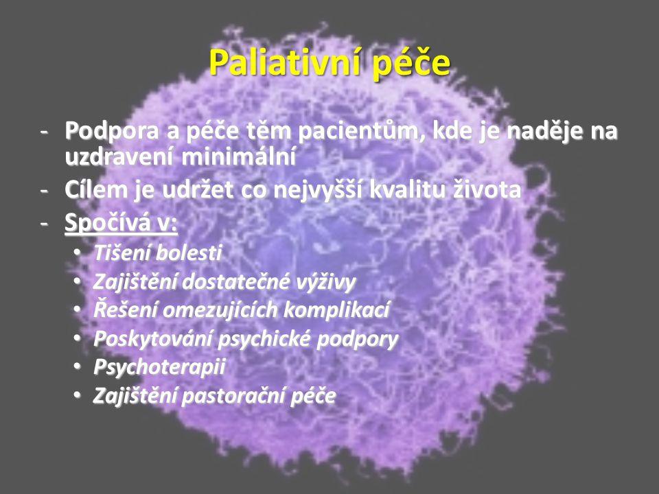 Terapie – chemoterapie -V průběhu léčby se objevují průjmy, anémie, vypadávání ochlupení, sterilita či leukopenie -Dávkování cytostatik a jejich kombinace jsou neustále ve vývoji, aby se dosahovalo co největších úspěchů v léčbě, ale vedlejší účinky nebyly pro organismus tak nepříjemné -Důležité je načasování léčby -> rychle rostoucí metastázy jsou náchylné na chemoterapii, nerostou ale věčně a časem se stávají imunní