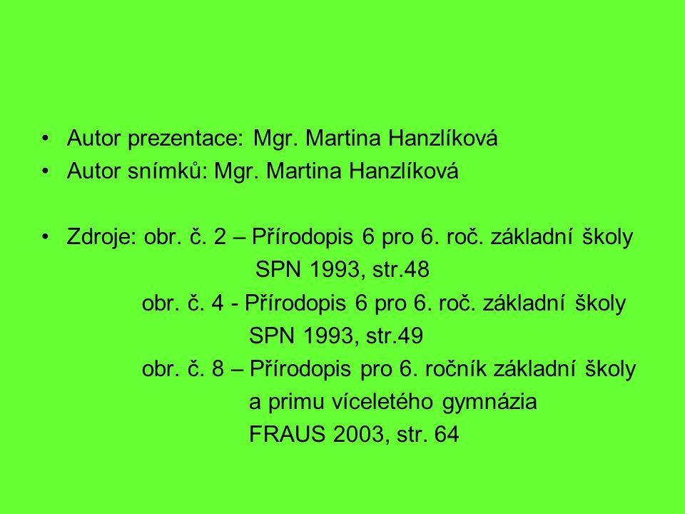 Autor prezentace: Mgr.Martina Hanzlíková Autor snímků: Mgr.