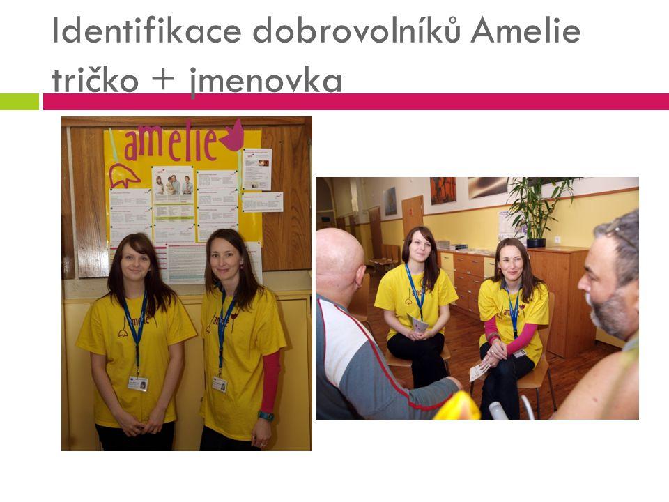 Identifikace dobrovolníků Amelie tričko + jmenovka
