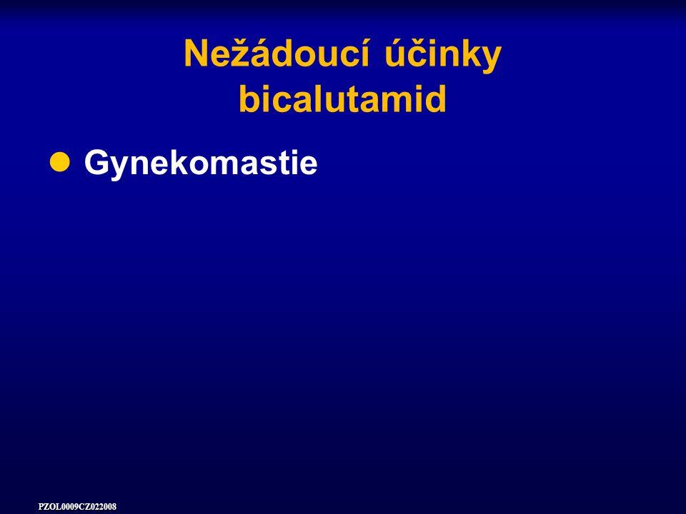 PZOL0009CZ022008 Nežádoucí účinky bicalutamid Gynekomastie