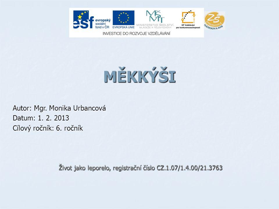 MĚKKÝŠI Autor: Mgr.Monika Urbancová Datum: 1. 2. 2013 Cílový ročník: 6.