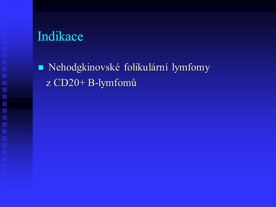 Indikace Nehodgkinovské folikulární lymfomy Nehodgkinovské folikulární lymfomy z CD20+ B-lymfomů z CD20+ B-lymfomů