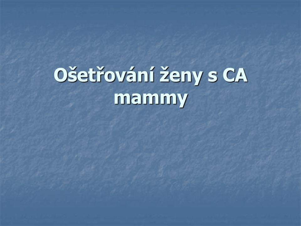 Ošetřování ženy s CA mammy