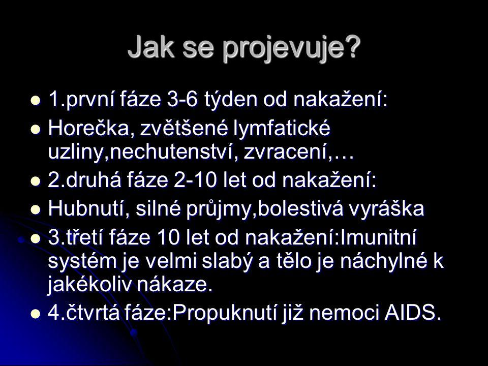 Jak se přenáší.HIV se přenáší z člověka na člověka.