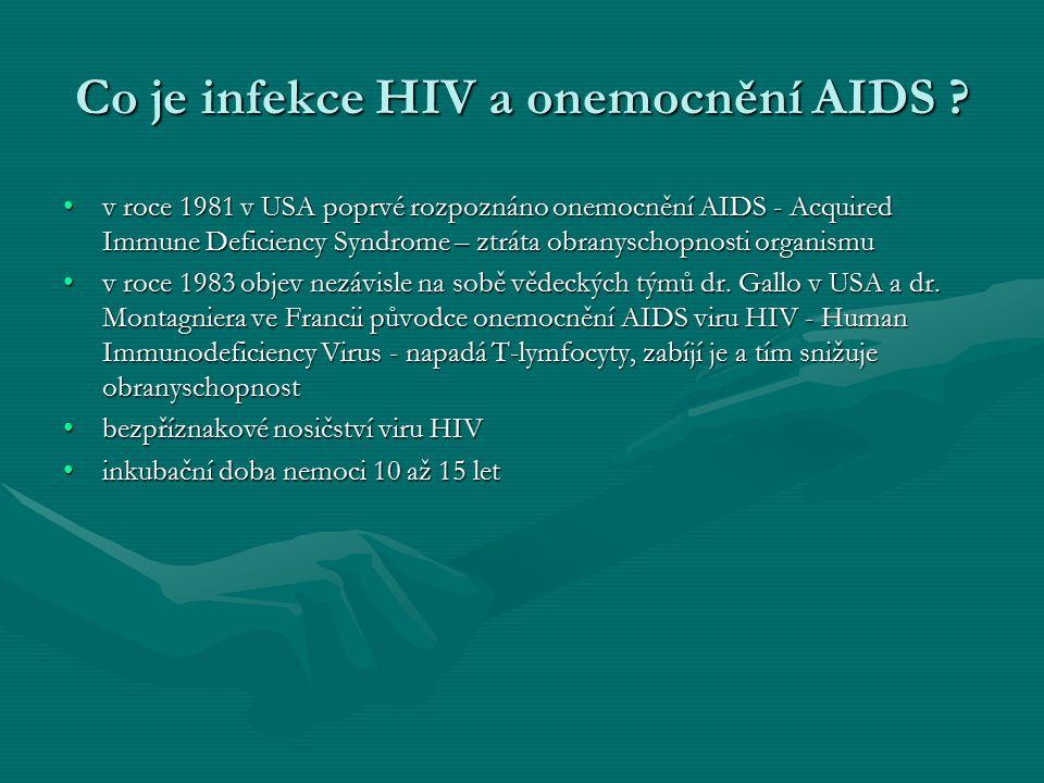 Jak se virus HIV přenáší .