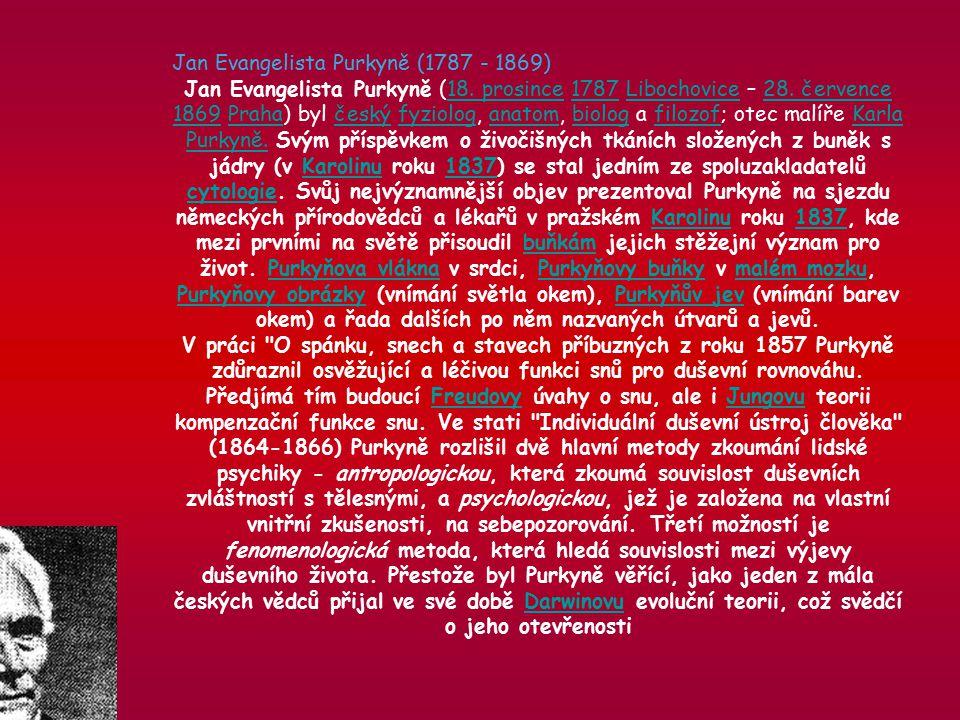 Jan Evangelista Purkyně (1787 - 1869) Jan Evangelista Purkyně (18.