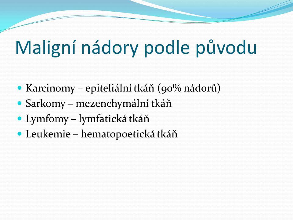 Léčba nádoru Chemoterapie: DNA poškozující (deriváty cis Pt) mitotické jedy (vinblastin apod.) – zástava replikace Radioterapie – zlomy v DNA Hormonální terapie (Tamoxifen) Biologická léčba: Antiangiogenní Diferenciační Inhibitory proteazomu Inhibitory tyrosinkináz Léčba monoklonálními protilátkam