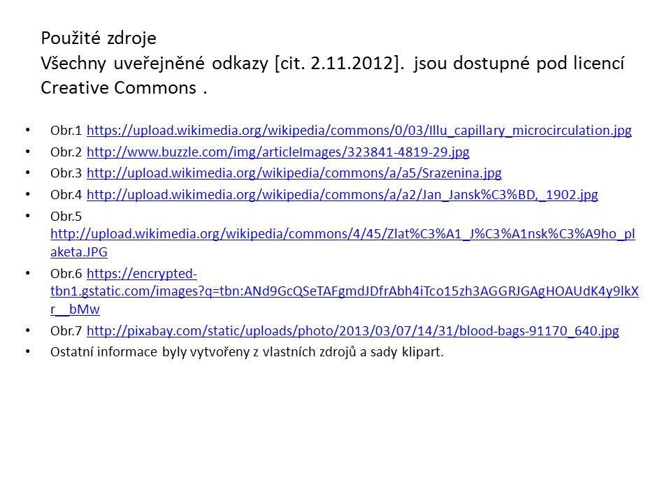 Použité zdroje Všechny uveřejněné odkazy [cit. 2.11.2012]. jsou dostupné pod licencí Creative Commons. Obr.1 https://upload.wikimedia.org/wikipedia/co