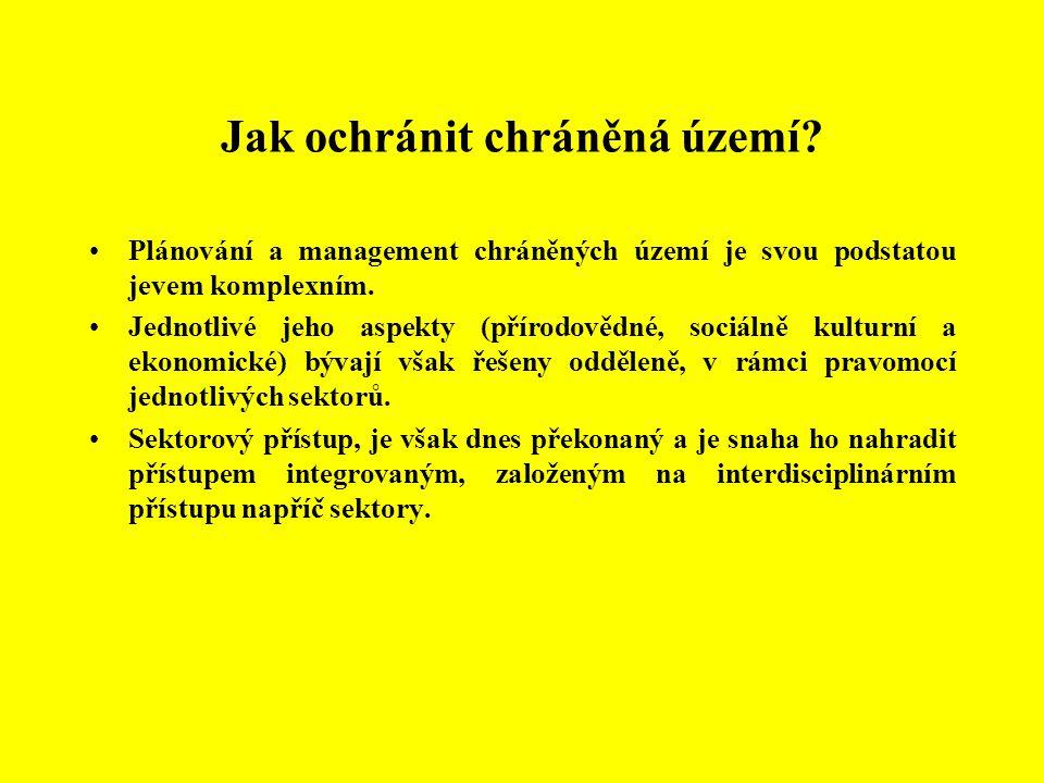 Kategorie ochrany NP, CHKO a BR Šumava