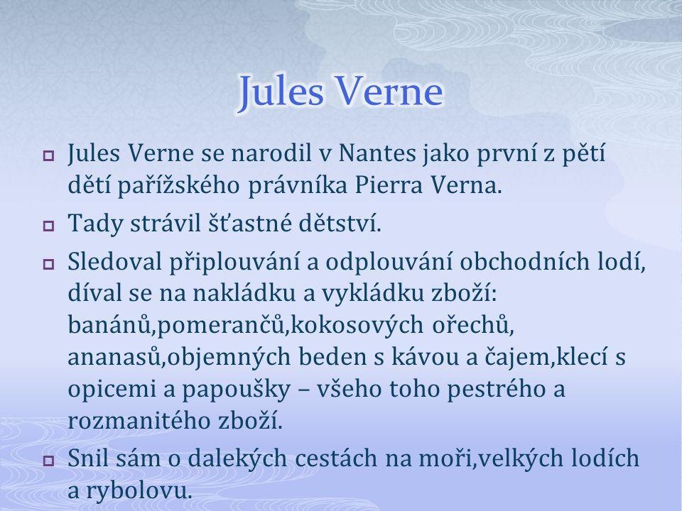  Otázky: 1.Jaké národnosti je Jules Verne.2.Za zakladatele jakého žánru je považován.
