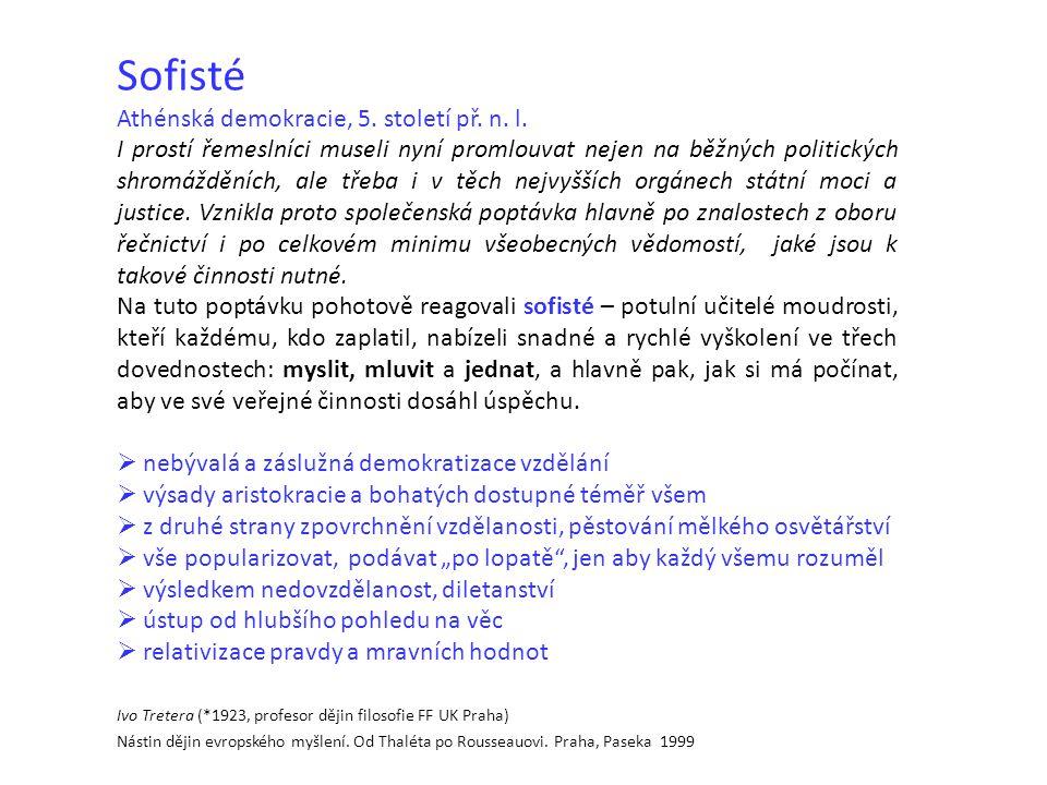 Sofisté Athénská demokracie, 5. století př. n. l.