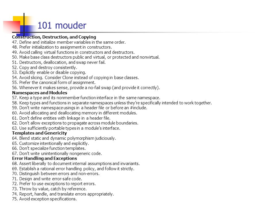 101 mouder Construction, Destruction, and Copying 47.