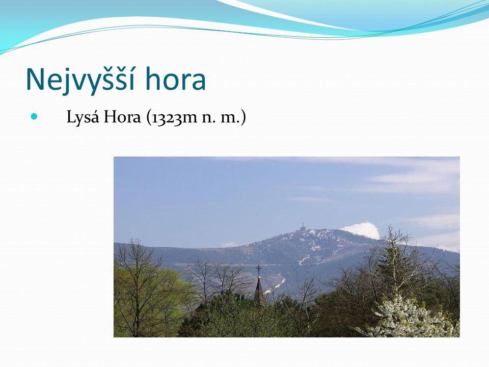Nejvyšší hora Lysá Hora (1323m n. m.)