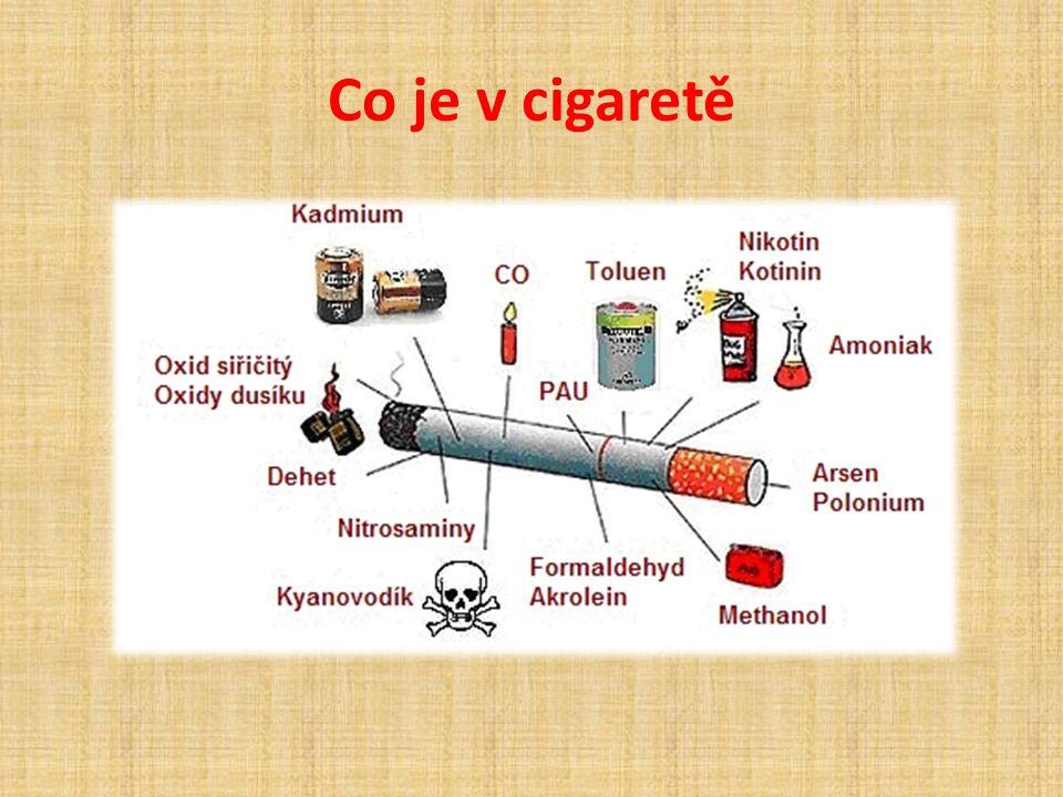 Co je v cigaretě