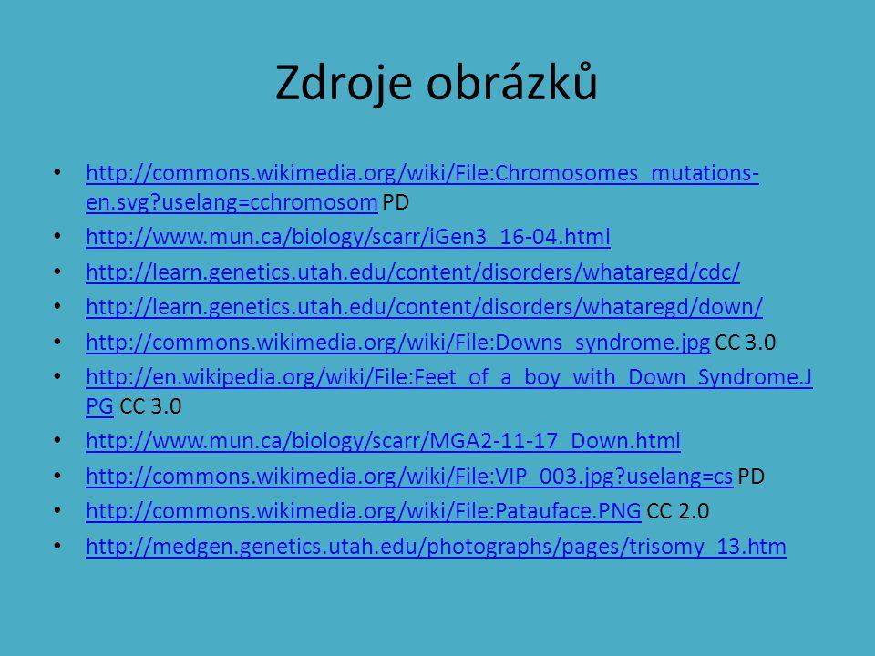 Zdroje obrázků http://commons.wikimedia.org/wiki/File:Chromosomes_mutations- en.svg?uselang=cchromosom PD http://commons.wikimedia.org/wiki/File:Chrom