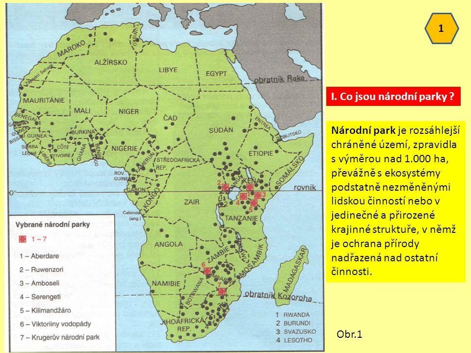 1 I.Co jsou národní parky .