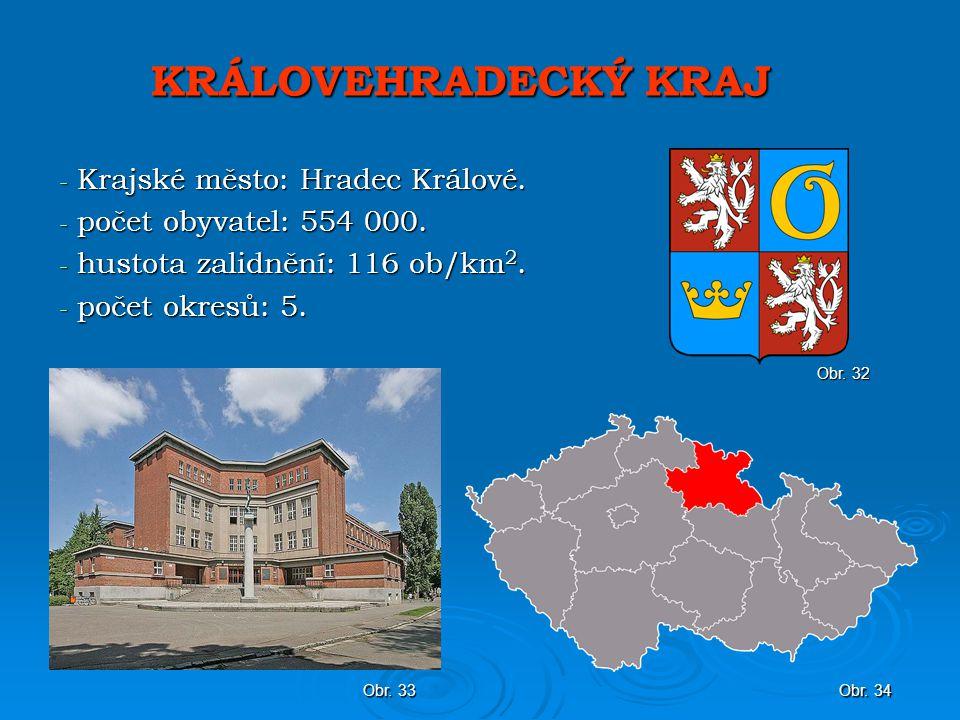 KRÁLOVEHRADECKÝ KRAJ - Krajské město: Hradec Králové.