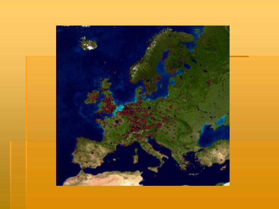 Největší hustota zalidnění  Nejhustší osídlení mají jižní části Velké Británie, státy Beneluxu, Porýní a Porůří v Německu a Pádská nížina v Itálii.