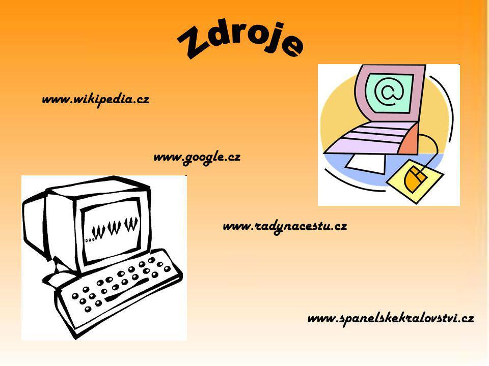www.wikipedia.cz www.google.cz www.radynacestu.cz www.spanelskekralovstvi.cz