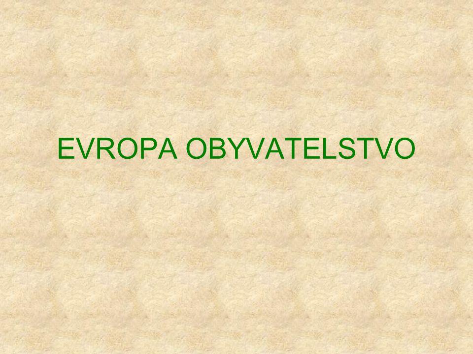 EVROPA OBYVATELSTVO
