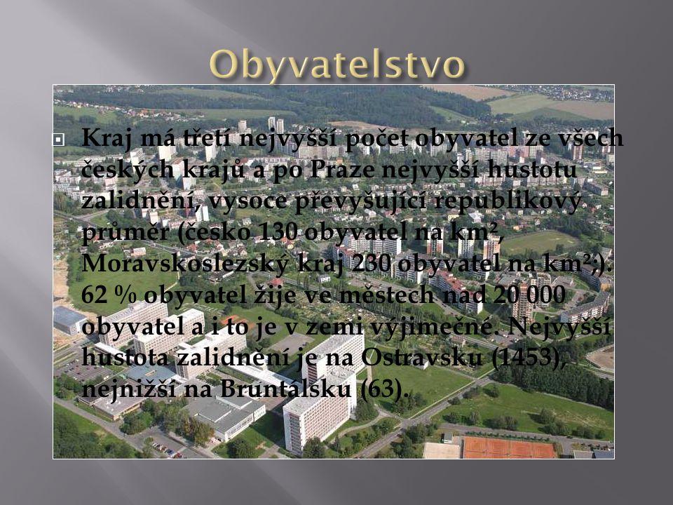  Kraj má třetí nejvyšší počet obyvatel ze všech českých krajů a po Praze nejvyšší hustotu zalidnění, vysoce převyšující republikový průměr (česko 130