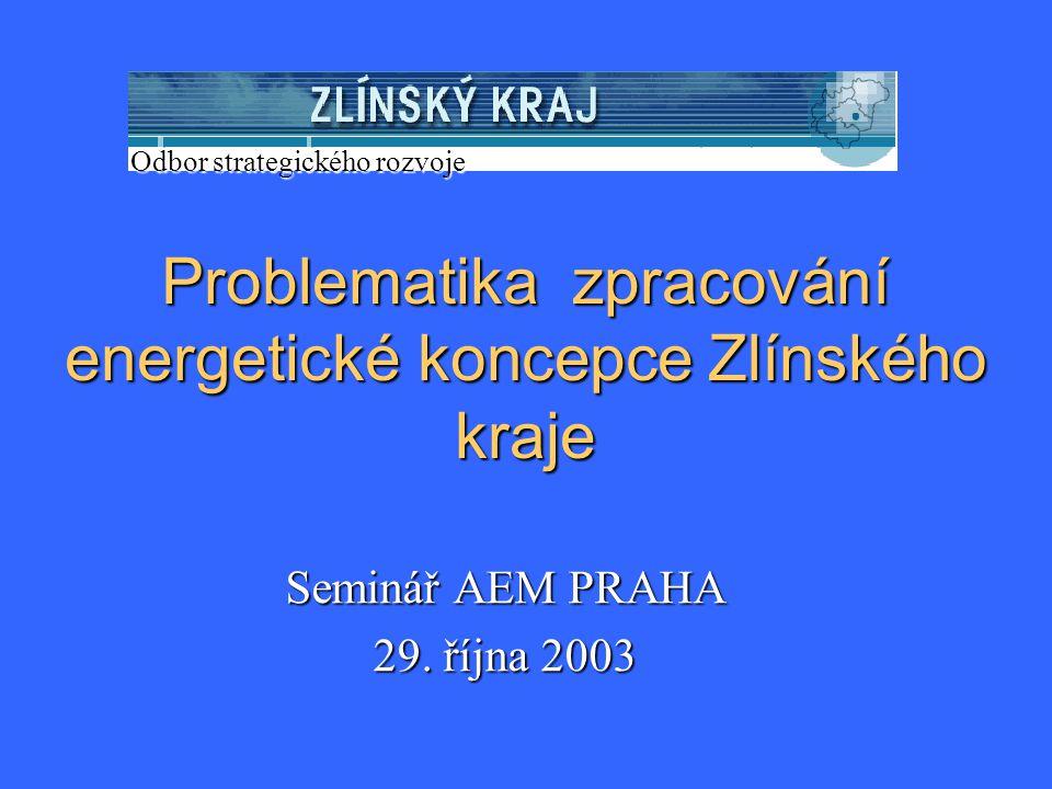 Problematika zpracování energetické koncepce Zlínského kraje Seminář AEM PRAHA 29.