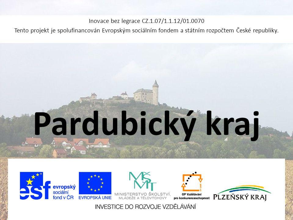 Pardubický kraj Inovace bez legrace CZ.1.07/1.1.12/01.0070 Tento projekt je spolufinancován Evropským sociálním fondem a státním rozpočtem České repub