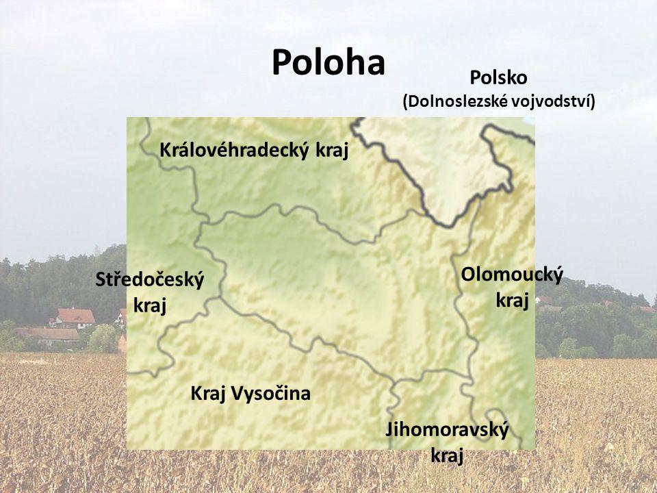 Poloha Královéhradecký kraj Středočeský kraj Kraj Vysočina Olomoucký kraj Jihomoravský kraj Polsko (Dolnoslezské vojvodství)