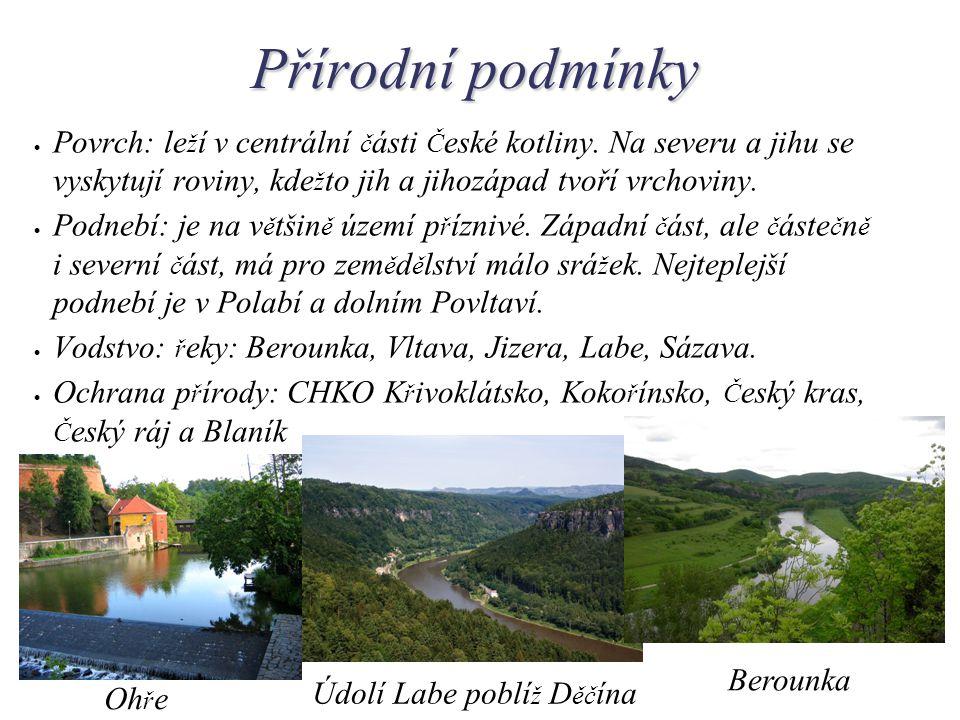 Přírodní podmínky  Povrch: le ž í v centrální č ásti Č eské kotliny.