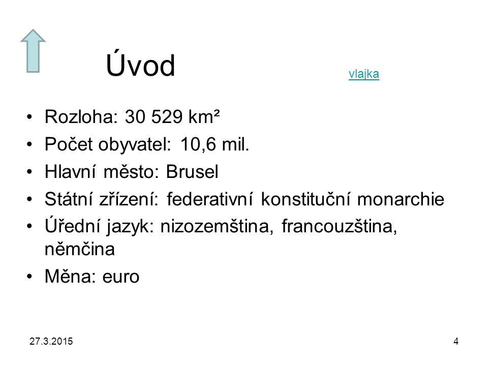27.3.20154 Úvod Rozloha: 30 529 km² Počet obyvatel: 10,6 mil.
