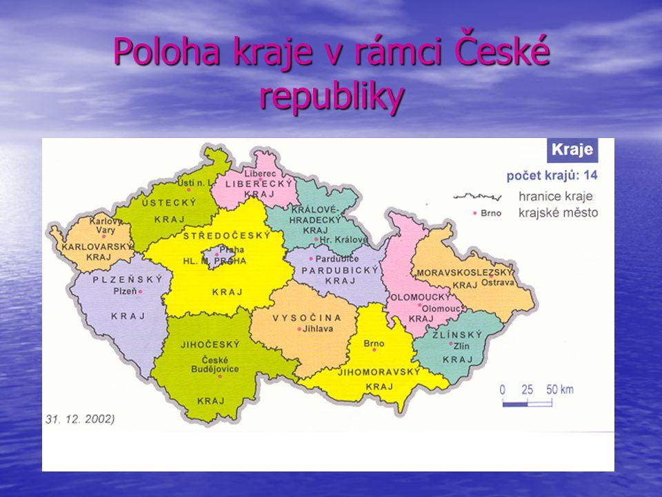 Poloha kraje v rámci České republiky