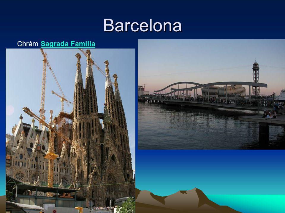 Barcelona Chrám Sagrada FamiliaSagrada Familia