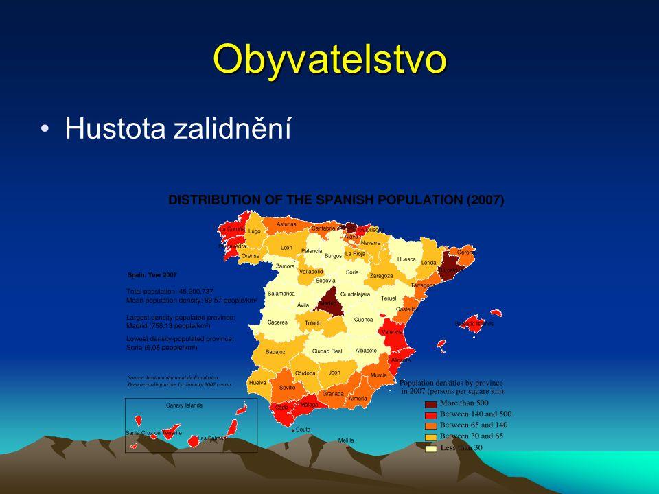 Obyvatelstvo Španělsko je mnohonárodnostní stát.