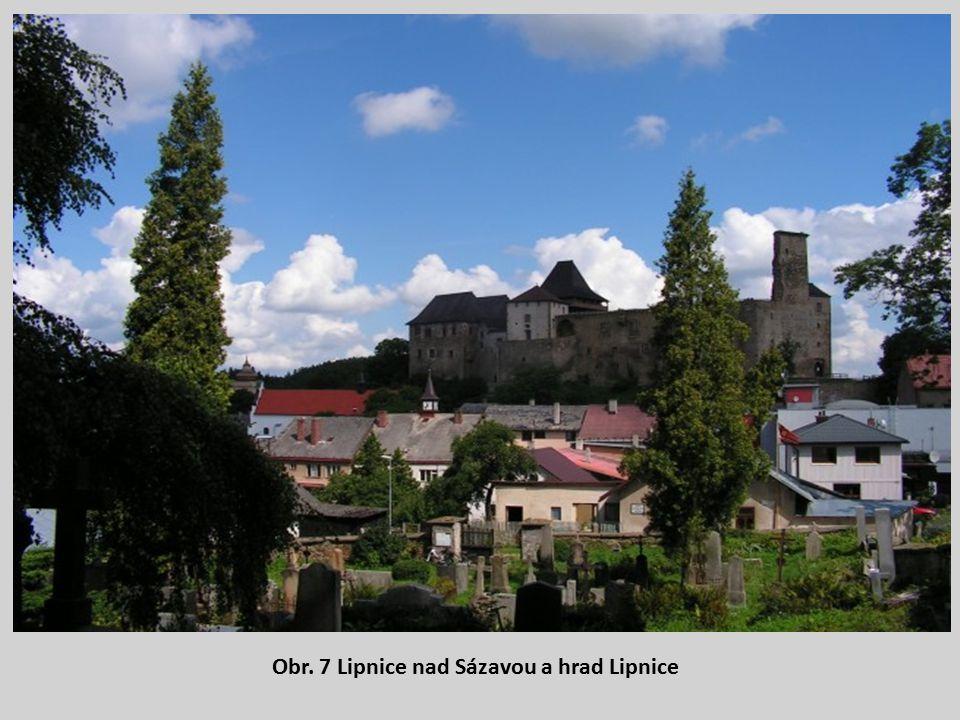 Obr. 7 Lipnice nad Sázavou a hrad Lipnice
