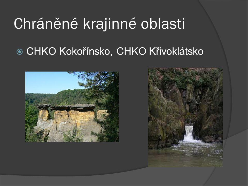 Chráněné krajinné oblasti  CHKO Kokořínsko, CHKO Křivoklátsko